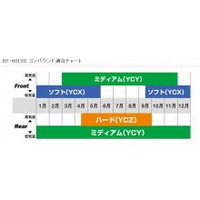 BRIDGESTONE TYRES SET BT-601SS 100/90-12 + 120/80-12