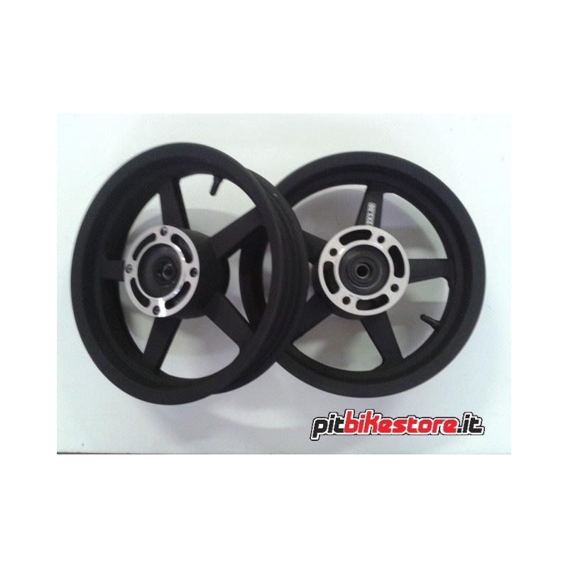 "supermoto set alloy wheels 12"" tubeless"