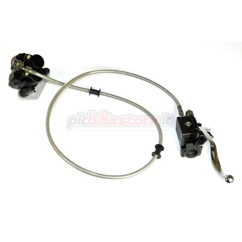 impianto freno anteriore pitbike doppio pistoncino