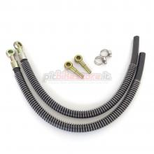 pit bike oil cooler rubber lines 470mm 10/10